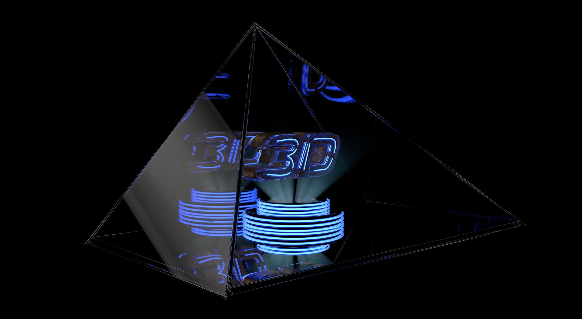 Трехмерные голографические пирамиды