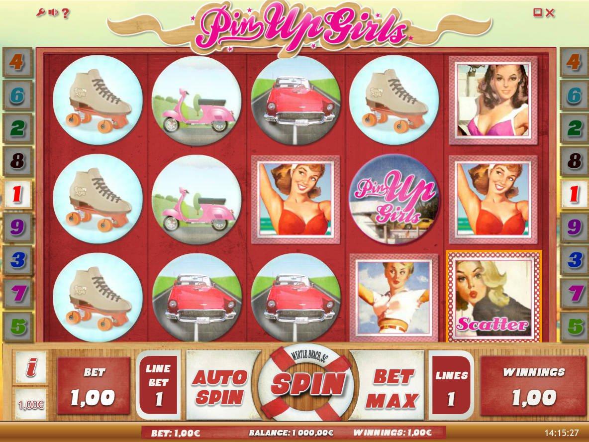 Обзор игрового автомата Pin up Girls