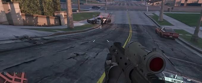 Grand Theft Auto V - новый мод превращает игру в Crysis