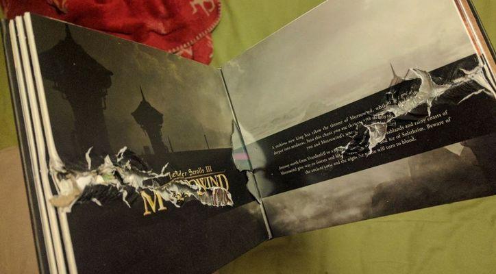 Коллекционное издание The Elder Scrolls спасло игрока от пули