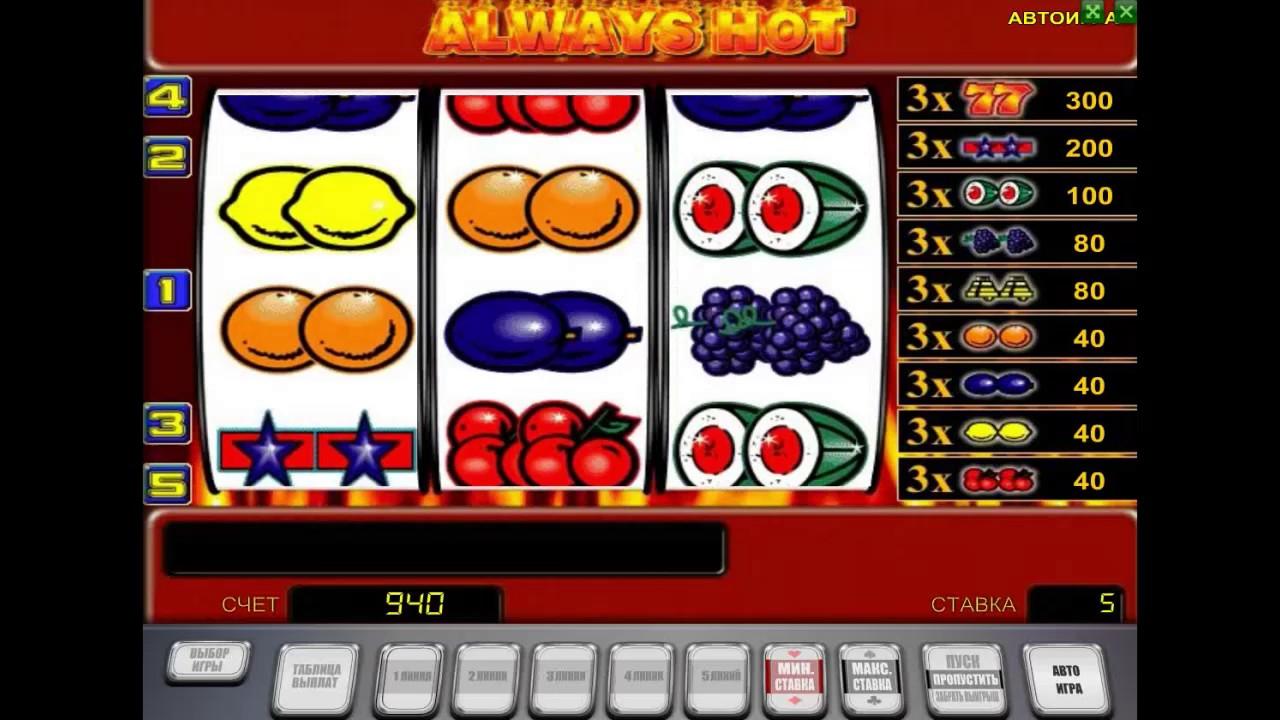 Мобильная версия казино Вулкан Старс: особенности игры Always Hot