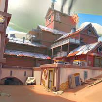 CS:GO карту Dust2 показали в стиле Overwatch